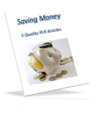Product picture Saving Money PLR Articles